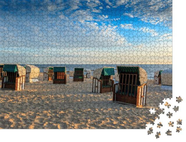 """Puzzle 1000 Teile """"Strandkörbe am Strand der Insel Usedom, Deutschland"""""""