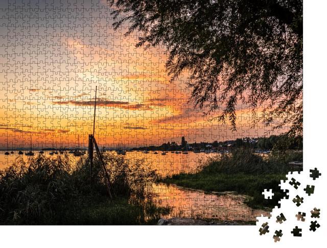 """Puzzle 1000 Teile """"Spektakulärer Sonnenuntergang am Bodensee"""""""