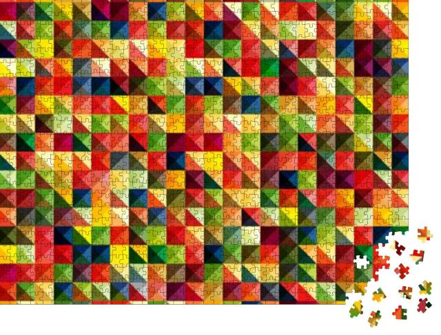 """Puzzle 1000 Teile """"Buntes abstraktes Muster"""""""