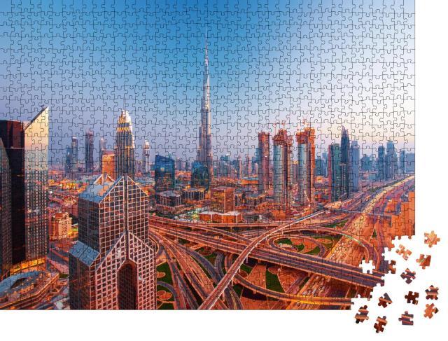 """Puzzle 1000 Teile """"Moderne Skyline des Stadtzentrums von Dubai"""""""