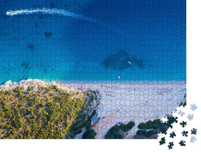 """Puzzle 1000 Teile """"Schöner Strand von Gjipe, Südalbanien"""""""