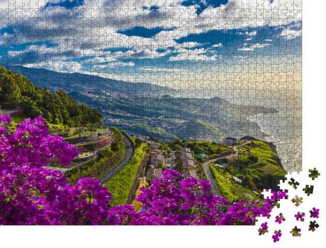 """Puzzle 1000 Teile """"Luftaufnahme vom höchsten Punkt: Cabo Girao, Insel Madeira, Portugal"""""""