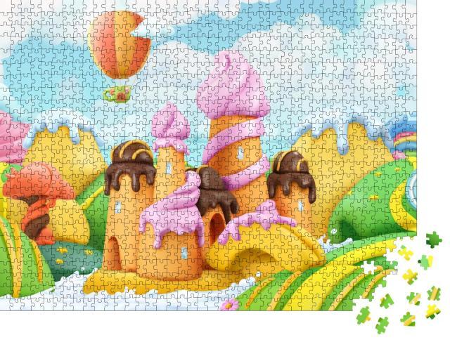 """Puzzle 1000 Teile """"Illustration: bunte Süßigkeiten"""""""