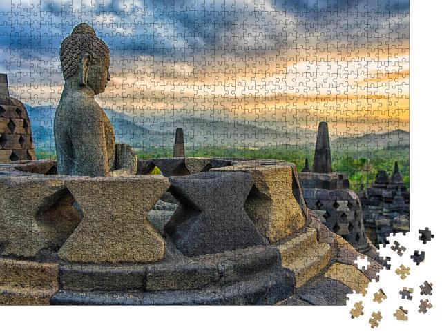 "Puzzle 1000 Teile ""Borobudur-Tempel bei Sonnenuntergang, Java, Indonesien"""