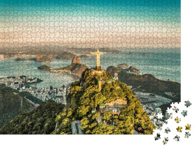 """Puzzle 1000 Teile """"Luftaufnahme der Botafogo-Bucht aus hohem Winkel, Rio de Janeiro"""""""