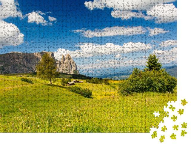 """Puzzle 1000 Teile """"Wunderschöne Seiser Alm in Südtirol, Italien"""""""