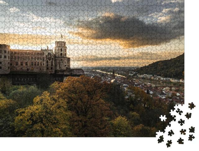 """Puzzle 1000 Teile """"Abendstimmung über Heidelberg"""""""