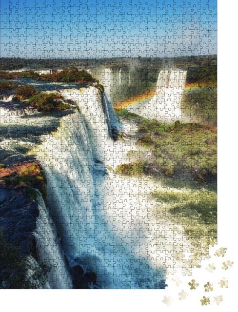 """Puzzle 1000 Teile """"Foz de Iguazu, riesige Wasserfälle, Iguazu-Nationalpark, Argentinien"""""""