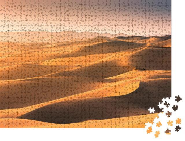 """Puzzle 1000 Teile """"Die Mongolei: Sanddünen in der Wüste Gobi"""""""