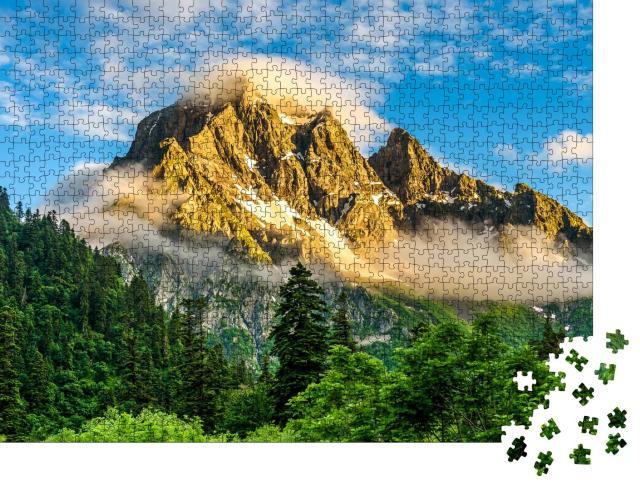"Puzzle 1000 Teile ""Atemberaubender Bergipfel am Morgen"""
