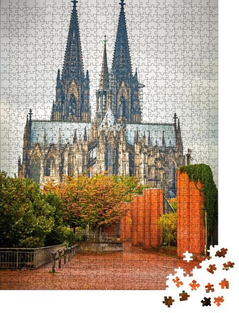 """Puzzle 1000 Teile """"Blick auf den Kölner Dom"""""""