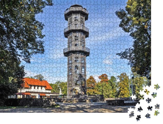 """Puzzle 1000 Teile """"König-Friedrich-August-Turm, Lobau, Sachsen, Deutschland"""""""