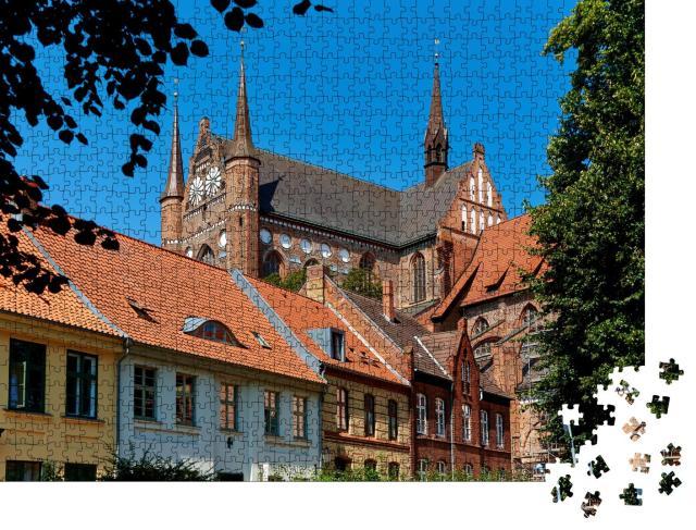 """Puzzle 1000 Teile """"Welterbe: Altstadt von Wismar"""""""