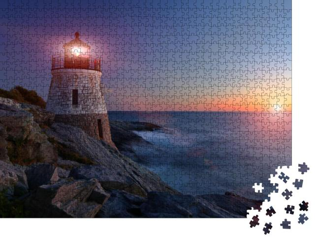 "Puzzle 1000 Teile ""Castle Hill Lighthouse im Sonnenuntergang"""