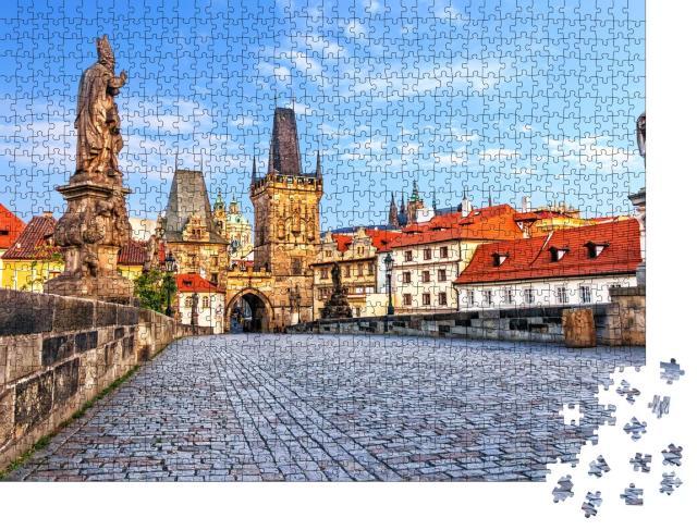 """Puzzle 1000 Teile """"Karlsbrücke über die Moldau in Prag, Tschechische Republik"""""""