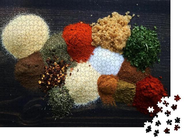 """Puzzle 1000 Teile """"Gewürze zur Herstellung von Jamaican Jerk Seasoning"""""""