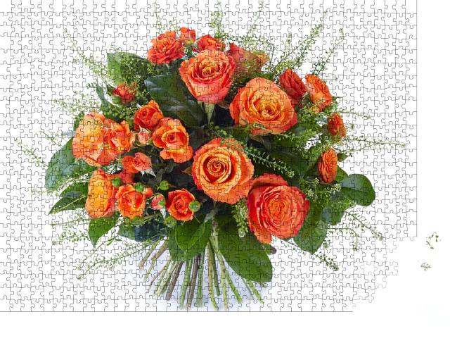 """Puzzle 1000 Teile """"Blumenstrauß aus bunten Blumen zur Hochzeit"""""""