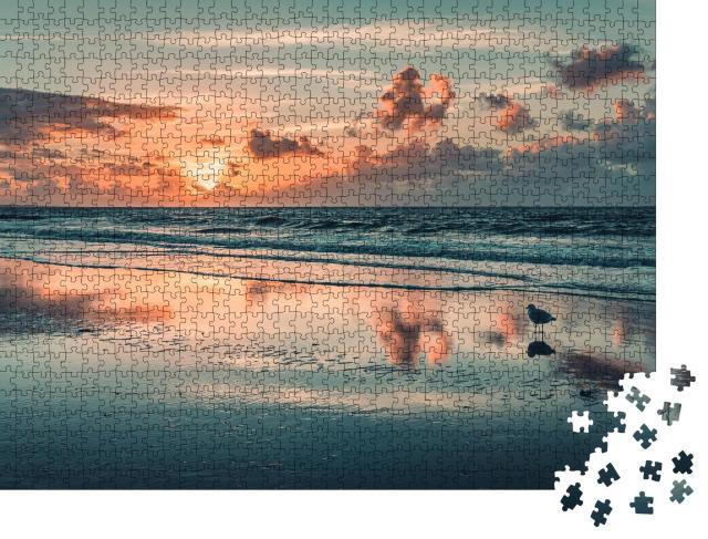 """Puzzle 1000 Teile """"Sonnenuntergang auf der Insel Norderney"""""""