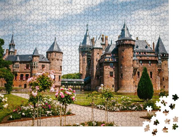 """Puzzle 1000 Teile """"Schloss de Haar in Utrecht, Niederlande"""""""