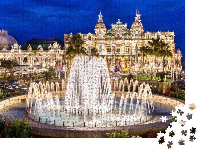 """Puzzle 1000 Teile """"Das Monte Carlo Casino, Wahrzeichen von Monaco"""""""