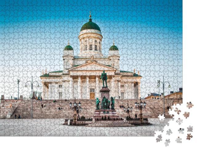 """Puzzle 1000 Teile """"Abendstimmung an der Kathedrale von Helsinki, Finnland"""""""