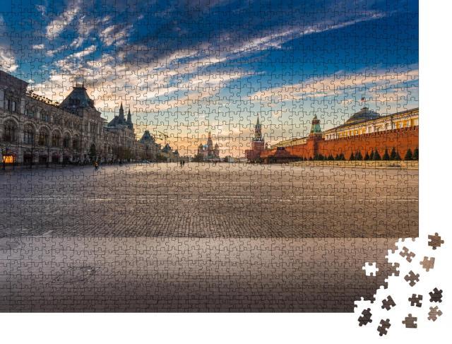"""Puzzle 1000 Teile """"Moskau, Russland: Roter Platz mit Blick auf die Basilius-Kathedrale"""""""