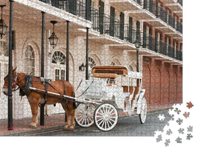 "Puzzle 1000 Teile ""Elegante Pferdekutsche im French Quarter, New Orleans"""