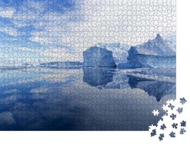 """Puzzle 1000 Teile """"Natur und Landschaften in Grönland: Schiff im Eis"""""""