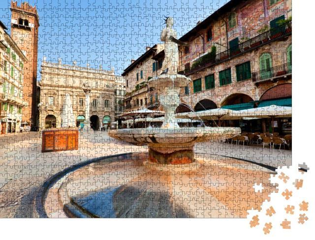 """Puzzle 1000 Teile """"Blick auf das Zentrum der Stadt Verona, Italien"""""""