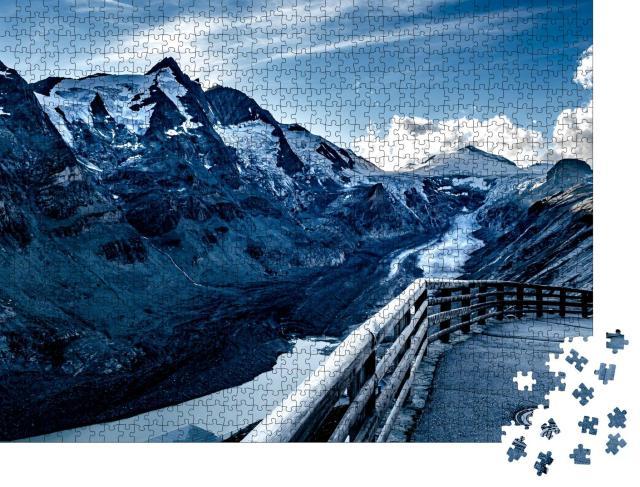 """Puzzle 1000 Teile """"Blick auf Kaiser Franz Josef im Nationalpark Hohe Tauern mit Großglockner"""""""
