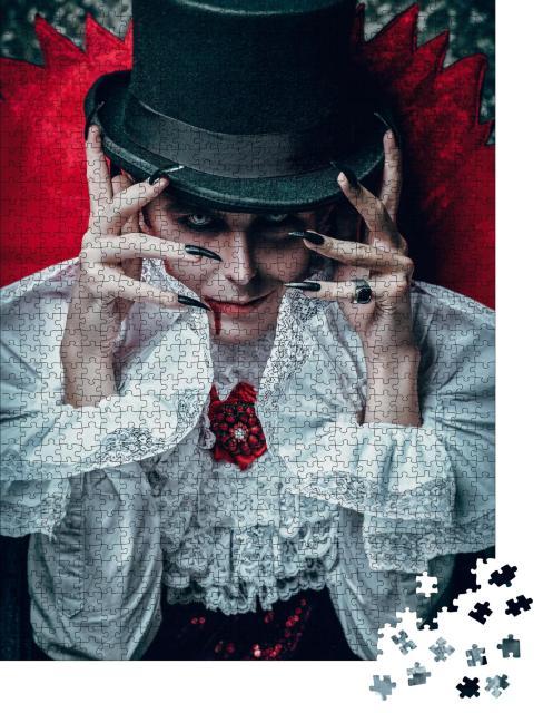 """Puzzle 1000 Teile """"Porträt eines traditionellen Vampir-Aristokraten des 19. Jahrhunderts"""""""