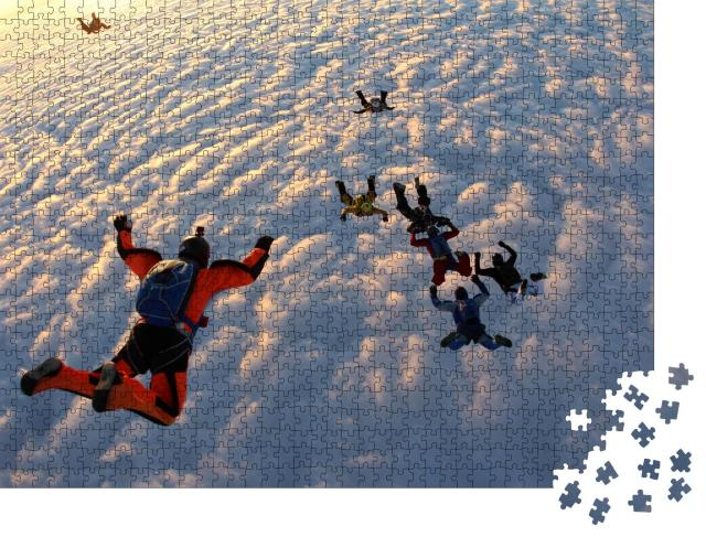 "Puzzle 1000 Teile ""Fallschirmspringer im freien Fall """
