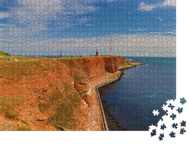 """Puzzle 1000 Teile """"Insel Helgoland, Nordsee"""""""
