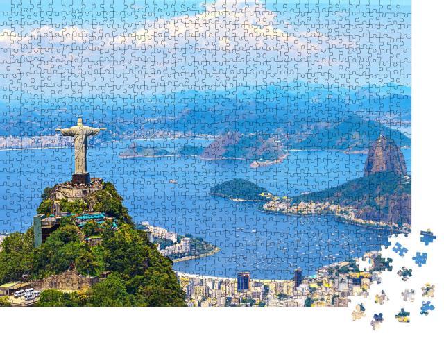 """Puzzle 1000 Teile """"Luftaufnahme von Rio de Janeiro mit Cristo Redentor, Brasilien"""""""
