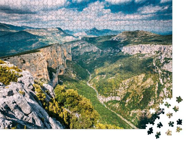 """Puzzle 1000 Teile """"Landschaft der Gorges Du Verdon im Südosten Frankreichs"""""""