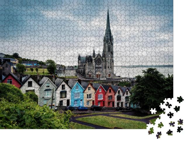 """Puzzle 1000 Teile """"Kathedrale von Cobh an der irischen Südküste"""""""