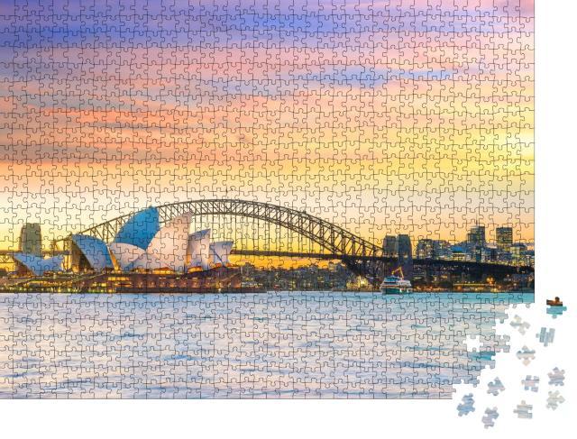"""Puzzle 1000 Teile """"Weltberühmte Skyline von Sydney in Australien"""""""
