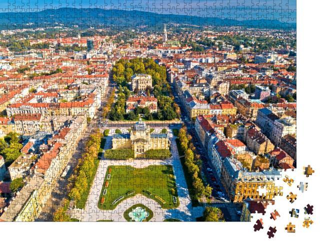 """Puzzle 1000 Teile """"Historisches Stadtzentrum von Zagreb, Kroatien"""""""