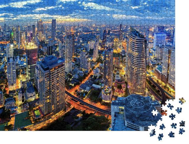"""Puzzle 1000 Teile """"Stadtbild inmitten von Bangkok, Thailand"""""""