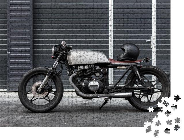 """Puzzle 1000 Teile """"Vintage-Motorrad bereit zur Abfahrt"""""""