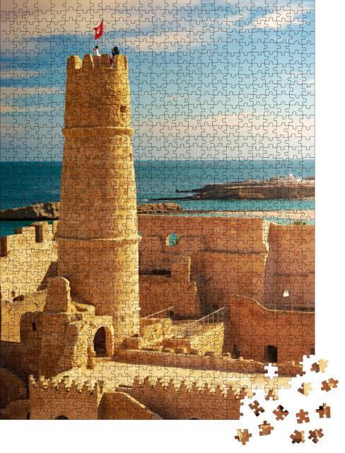 """Puzzle 1000 Teile """"Mittelalterliche Festung von Monastir, Tunesien"""""""