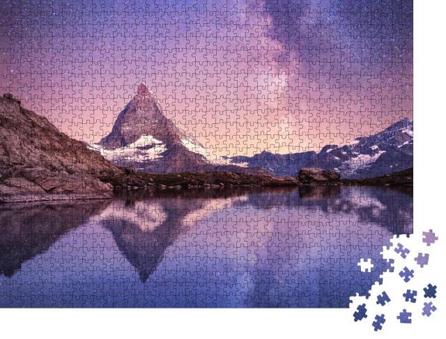 """Puzzle 1000 Teile """"Milchstraße über dem Matterhorn, Schweiz"""""""