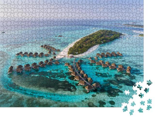 """Puzzle 1000 Teile """"Malediven von oben, Indischer Ozean"""""""