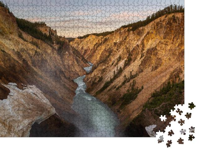 """Puzzle 1000 Teile """"Grand Canyon des Yellowstone-Nationalparks, USA"""""""