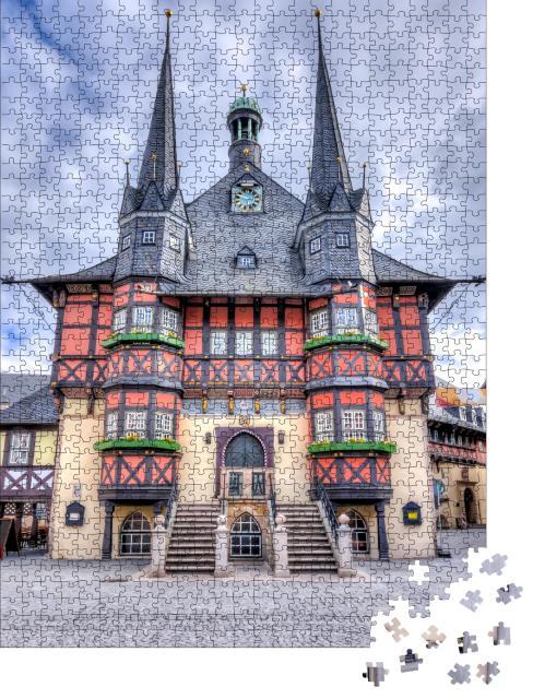 """Puzzle 1000 Teile """"Rathaus von Wernigerode am Marktplatz, Deutschland"""""""