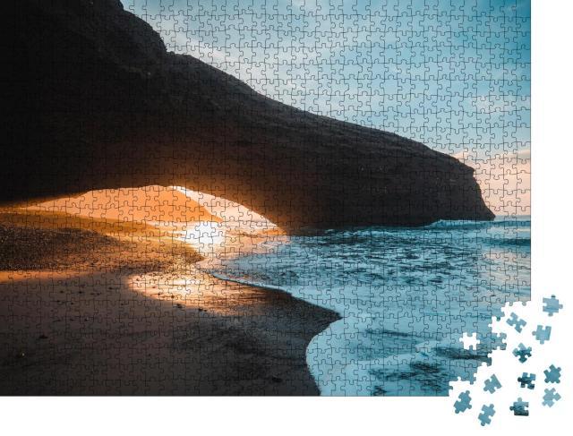 """Puzzle 1000 Teile """"Steinbogen am Legzira Beach in der Nähe von Agadir, Marokko"""""""