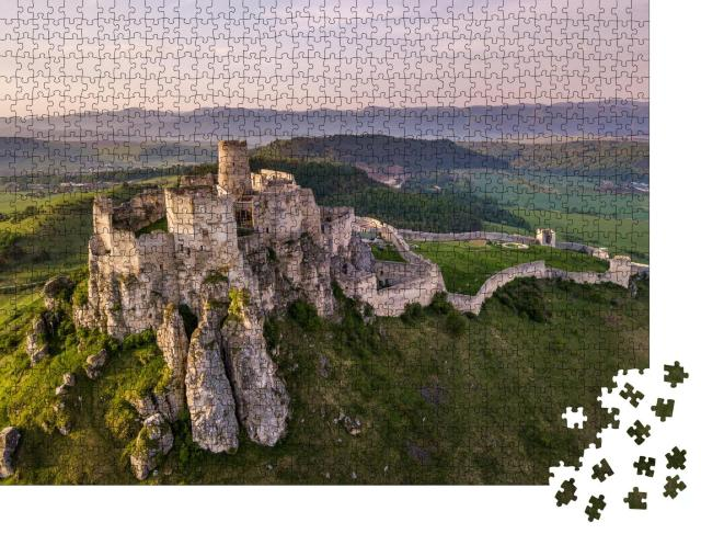 """Puzzle 1000 Teile """"Beeindruckende Zipser Burg in der Slowakei"""""""