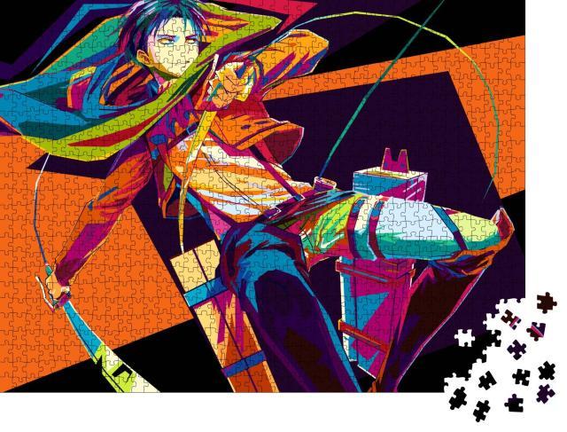 """Puzzle 1000 Teile """"Anime: Angriff auf einen Titan"""""""