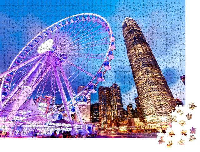 """Puzzle 1000 Teile """"Wunderbare Aussicht: Hongkong Riesenrad"""""""