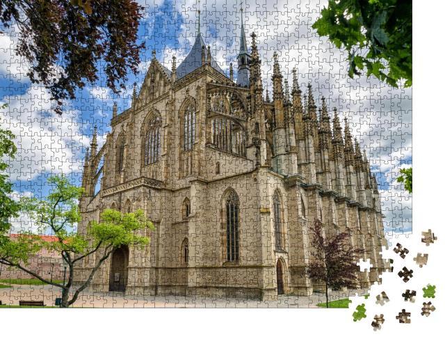 """Puzzle 1000 Teile """"St. Barbara römisch-katholische Kirche in der Stadt Kutna Hora, Tschechische Republik"""""""